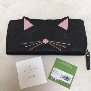 Kate spade cat's meow slim wallet